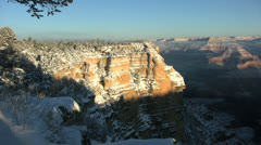 Grand Canyon Winter Landscape - stock footage