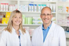 confident team in pharmacy - stock photo
