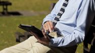 Stock Video Footage of Casual businessman with tablet PC
