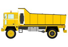 tipper truck - stock illustration