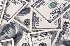 Background with money american hundred dollar bills Stock Photos
