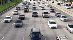 Heavy Traffic, Cars, Automobiles, Trucks - stock footage