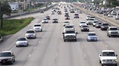 Heavy Traffic, Cars, Automobiles, Trucks Stock Footage