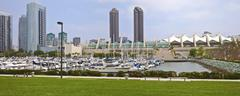 San diego twin towers and convention center california. Stock Photos