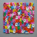 Stock Photo of colorful letter texture shape arranged