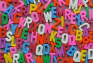 Stock Photo of colorful letter texture