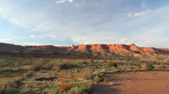 Utah Capitol Reef line of cliffs c Stock Footage