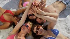 Young College Friends Enjoying Weekend Break - stock footage
