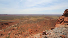 Utah View out over flat land from Cedar Mesa c Stock Footage