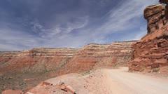 Utah Dirt road up Cedar Mesa c Stock Footage