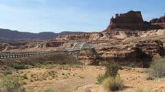 Utah Bridge on Colorado River c Stock Footage