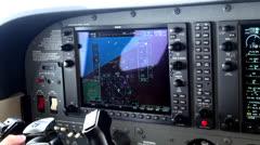 Airplane Cockpit, Pilots Instruments, Navigation - stock footage