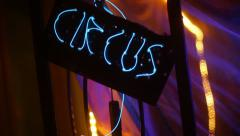 Circus neon sign 2 Stock Footage