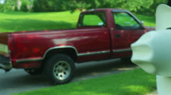Country truck pick up cowboy country farm Stock Footage