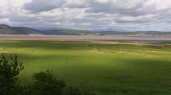 River estuary landscape Stock Footage