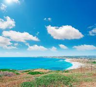blue sky in san giovanni beach - stock photo