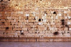 Wailing wall empty in jerusalem Stock Photos