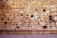 Stock Photo of wailing wall empty in jerusalem