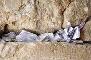 Stock Photo of notes in western wall, jerusalem, israel