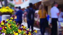 On the streets of Positano, Amalfy coast, Italy.  Stock Footage
