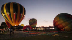Citrus Classic Hot Air Balloon Festival Inflation - stock footage