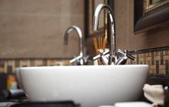 Sink with taps Stock Photos