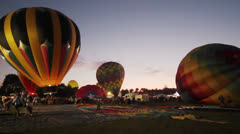 Citrus Classic Hot Air Balloon Festival Inflation Time Lapse - stock footage