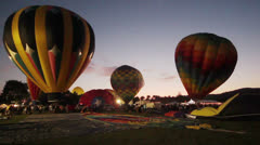 Citrus Classic Hot Air Balloon Festival Inflation Stock Footage