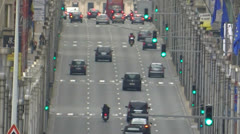 Traffic in Brussels - stock footage
