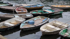 Empty Rowing Boats.mp4 Stock Footage
