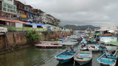 Sai Kung Boat yard.mp4 Stock Footage