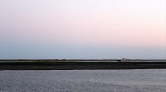 Ria Formosa - Paisagem e Farol B Stock Footage