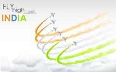 Celebration of Indian freedom Stock Illustration