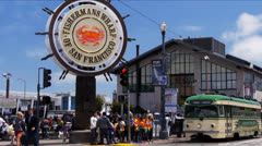 Street car at fishermans wharf Stock Footage