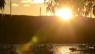 Stock Video Footage of Harbour Sunset Shot, Pittwater Australia Close Up 119GYPBL 0056