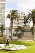 independence square. montevideo, uruguay - stock photo