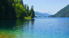 Mountains lake landscape. Stock Footage