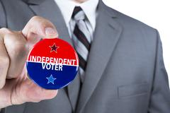independent voter - stock photo