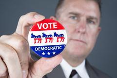 democratic badge - stock photo