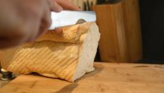Slicing Bread Stock Footage