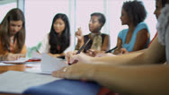 Stock Video Footage of Multi Ethnic Teenage Students College Classroom