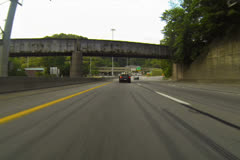 Entering Fort Pitt Tunnels NTSC Stock Footage