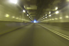 Exiting the Fort Pitt Tunnel NTSC Stock Footage