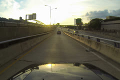 Leaving Pittsburgh Drive NTSC Stock Footage