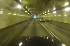 Fort Pitt Tunnel Exit NTSC Stock Footage