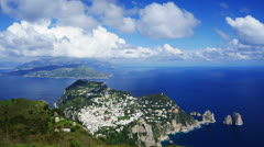 Stock Video Footage of Capri island landscape/seascape, Italy, time-lapse.