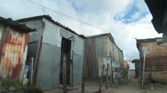 Shacks,Shanty town ,South Africa Stock Footage