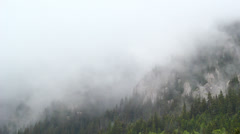 Foggy mountain after storm Stock Footage