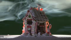 Gingerbread Fog 02L Stock Footage