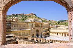 amber fort, india - stock photo